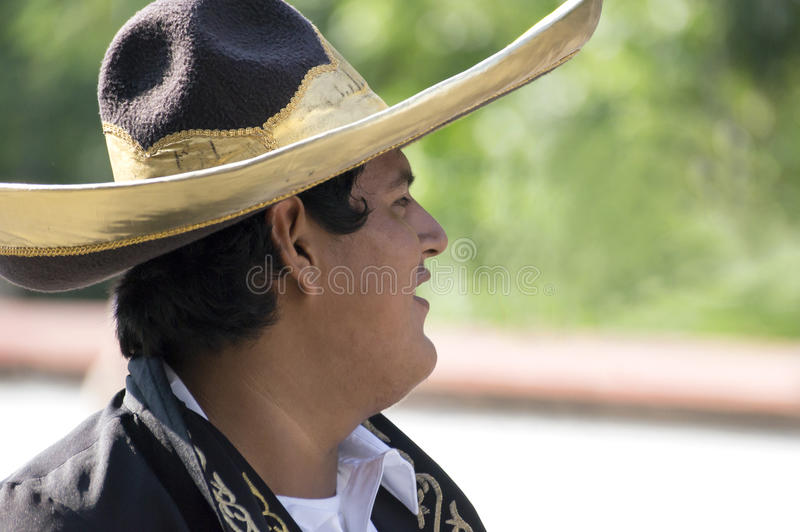 Ung mexicansk cowboy arkivfoto
