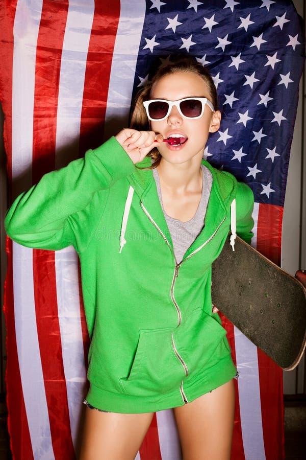 Download Ung patriot fotografering för bildbyråer. Bild av land - 27275209