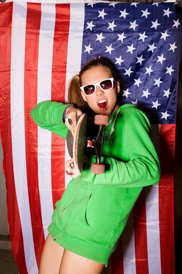 Download Ung patriot fotografering för bildbyråer. Bild av baner - 27275237