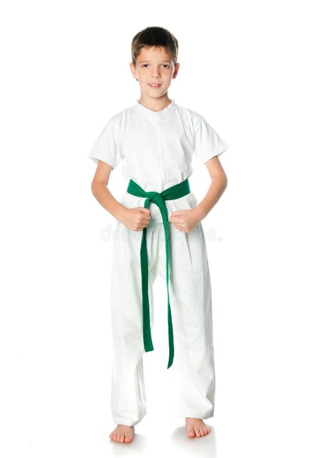 Ung pojke i kimono royaltyfria foton
