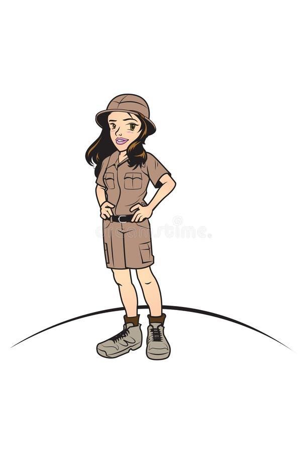 Ung safari vektor illustrationer