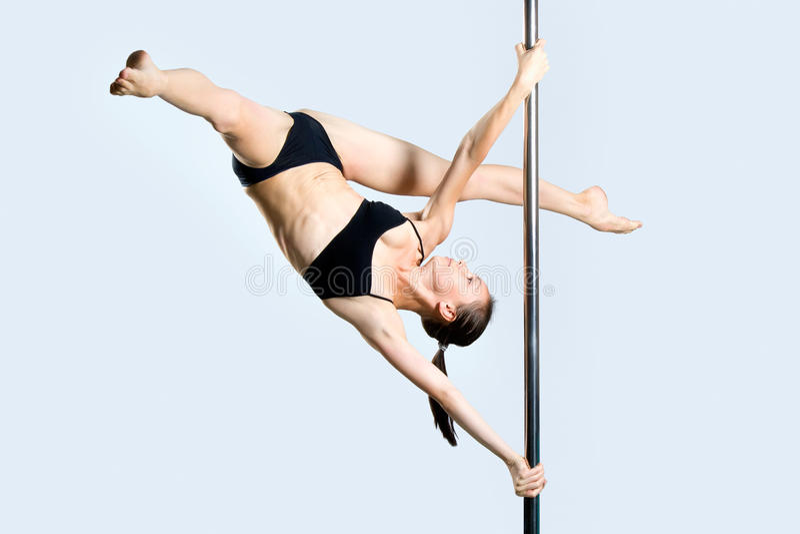 Download Ung Sexig Dans För Kvinnaövningspol Arkivfoto - Bild av damunderkläder, isolerat: 27279598