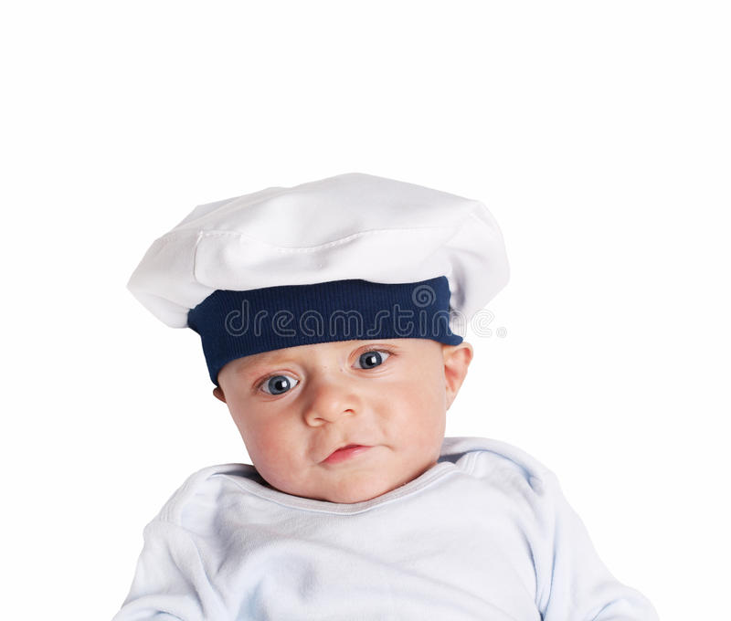 Ung sjöman - fem gamla månader royaltyfria foton