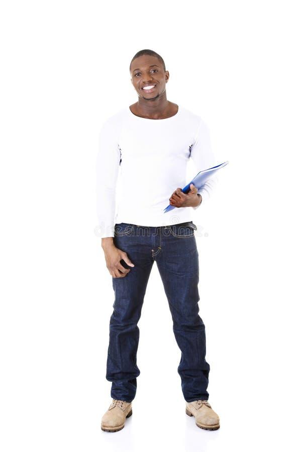 Ung studentman royaltyfria bilder