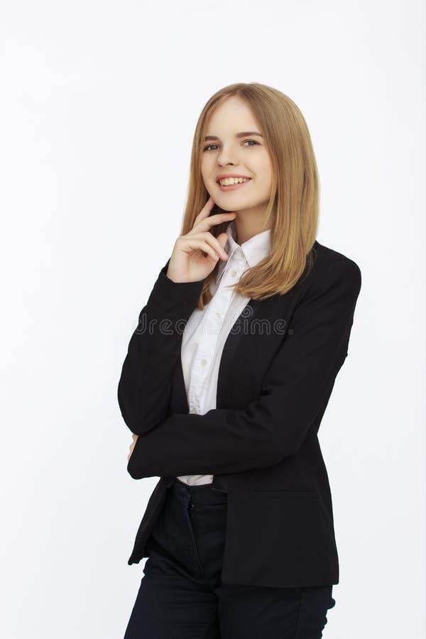 Ung succesfullaffärskvinna royaltyfri bild