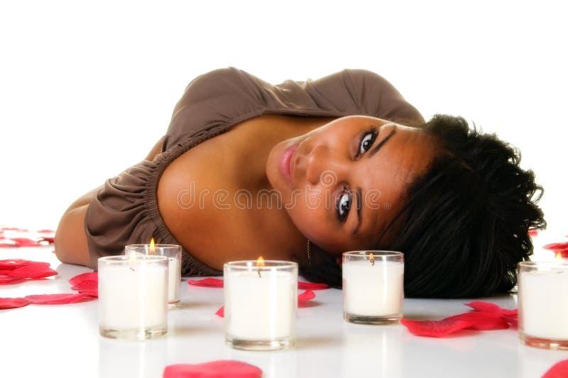 Ung svart kvinna arkivbilder