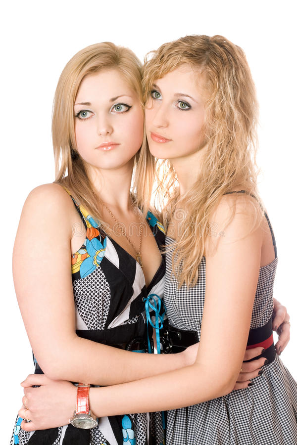 unga attraktiva kvinnor för stående två arkivfoton