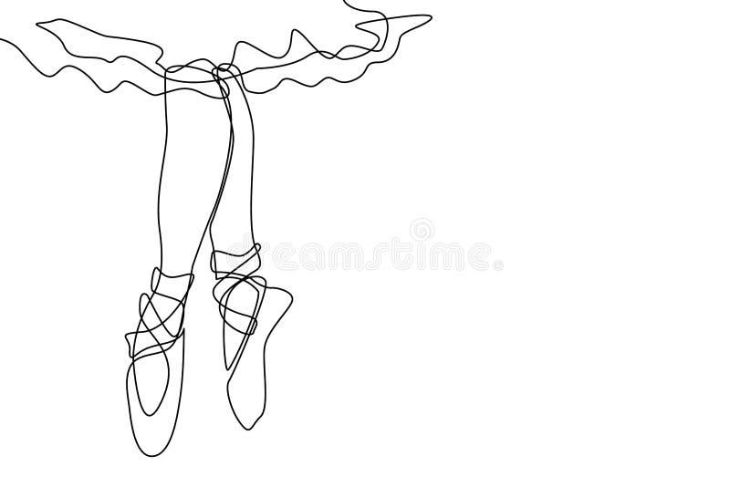 Unga ben för dansare` s vektor illustrationer
