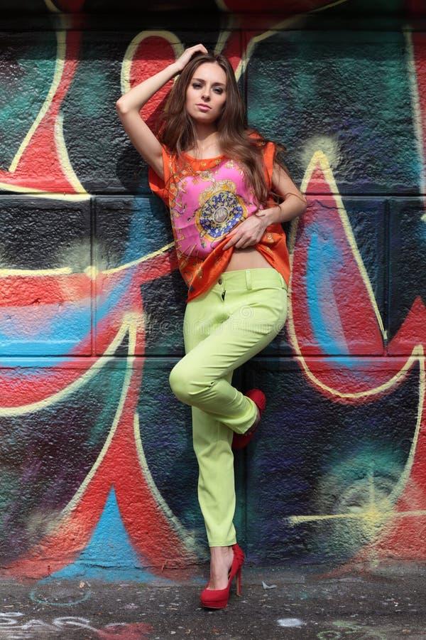 Unga flickan fotografering för bildbyråer