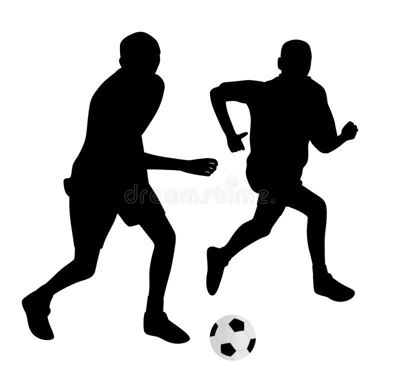Unga fotbollspelare royaltyfri illustrationer