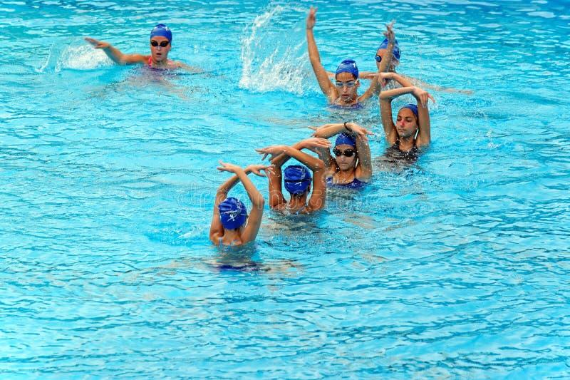 Unga kvinnliga simmare arkivbild