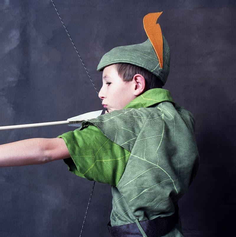 Unga Robin Hood royaltyfria foton