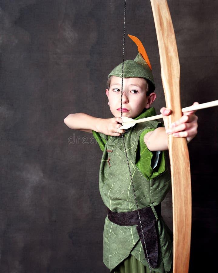 Unga Robin Hood fotografering för bildbyråer
