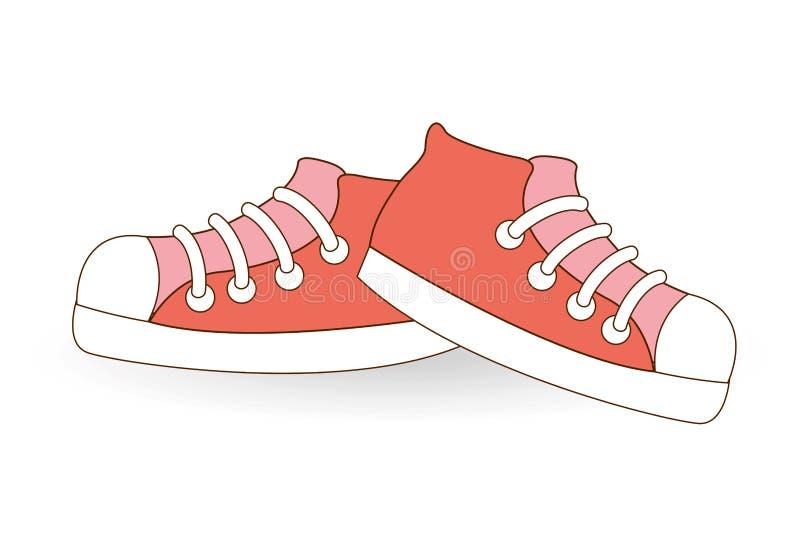 Unga skor stock illustrationer