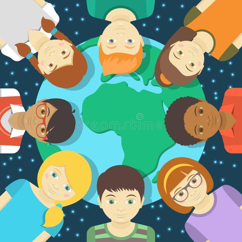 Ungar av jorden stock illustrationer