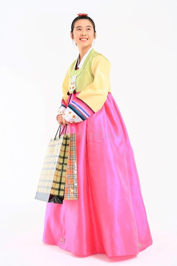 Ungar i koreansk klänning royaltyfri foto