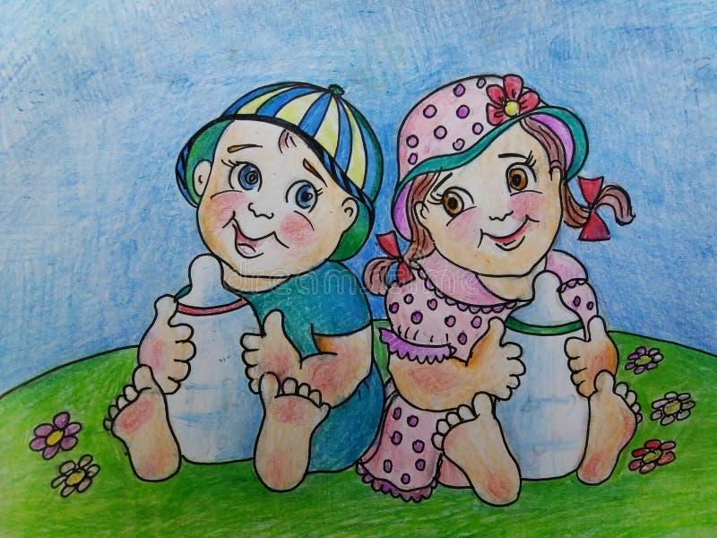 ungar Kopplar samman förälskelse mjölkar arkivbilder