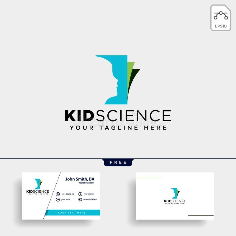 ungar som lär, för logomall för vetenskap idérik beståndsdel för symbol för illustration för vektor, isolerade arkivfoto