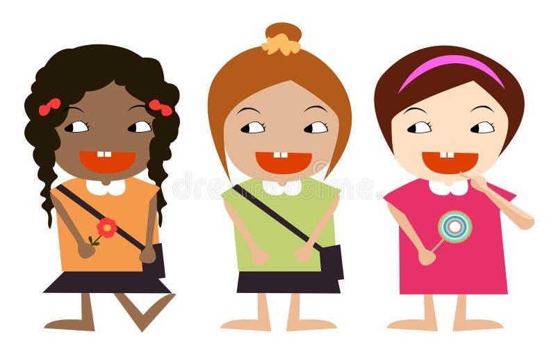ungar tre royaltyfri illustrationer
