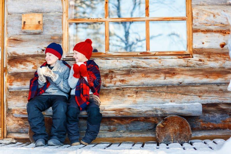 Ungar utomhus på vinter royaltyfria foton