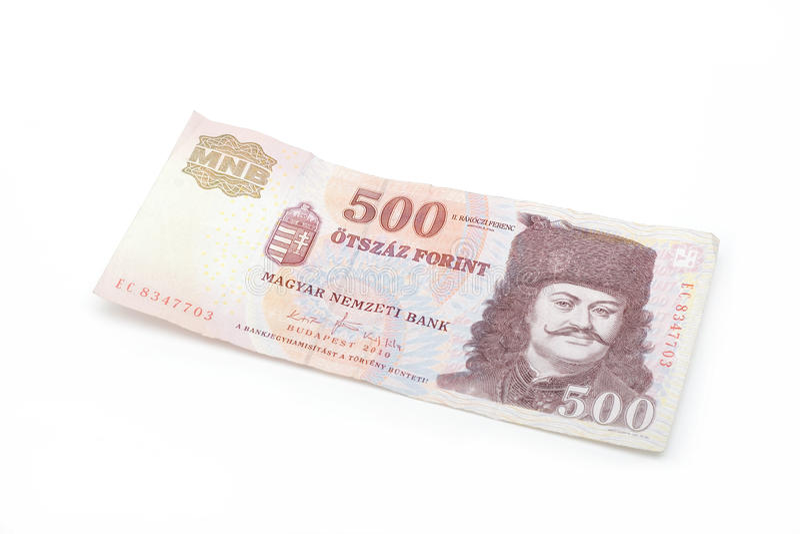 Ungarische Forint-Banknote - 500 HUF stockbilder