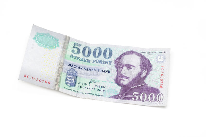 Ungarische Forint-Banknote - 5000 HUF lizenzfreies stockfoto