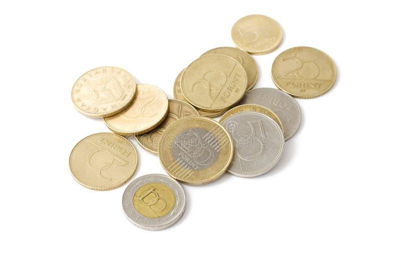 Ungarische Forint-Münzen lizenzfreie stockfotos