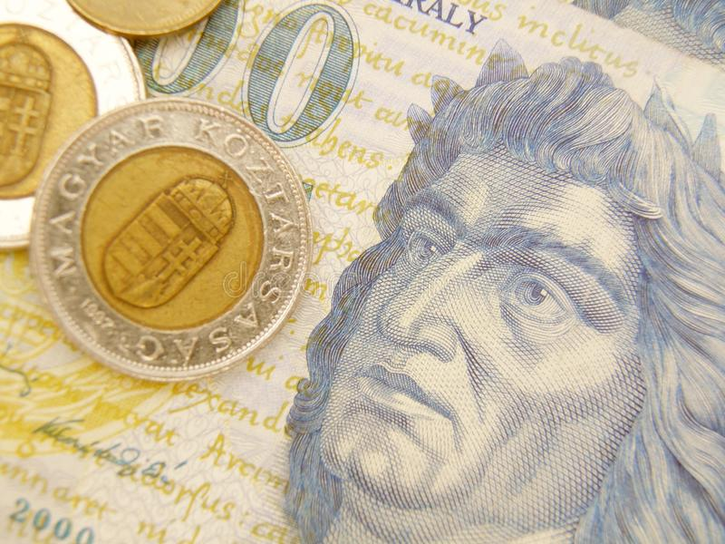 Ungarisches Forintbargeld stockfoto