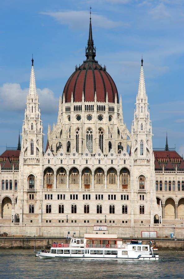 Ungarisches Parlaments-Gebäude stockfotos