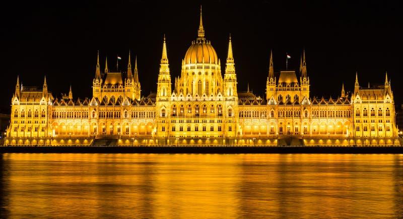 Ungarisches Parlamentsgebäude in Budapest lizenzfreies stockfoto