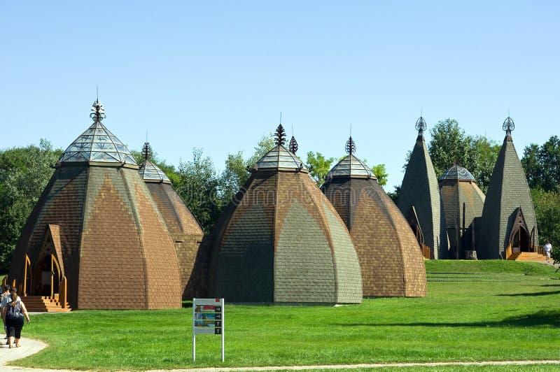 Ungarisches yurta Museum stockfotos