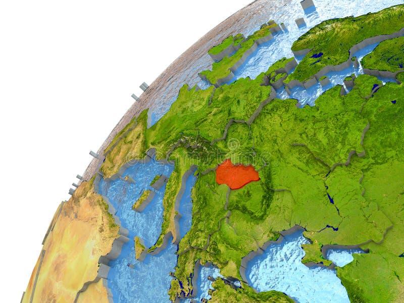 Ungarn auf Erde stock abbildung