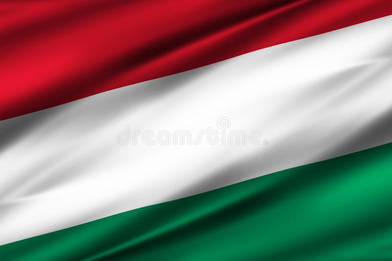 Ungarn-Flaggenillustration stock abbildung