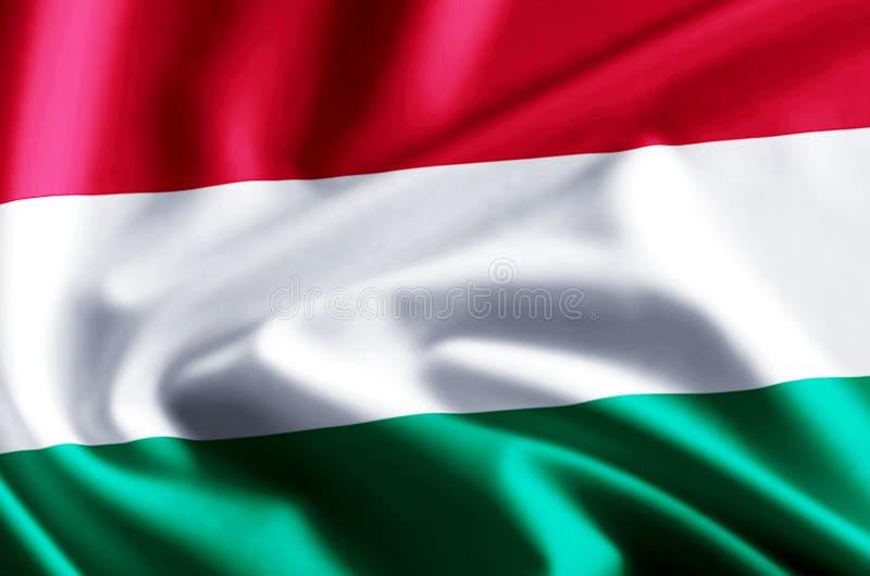 Ungarn-Flaggenillustration vektor abbildung