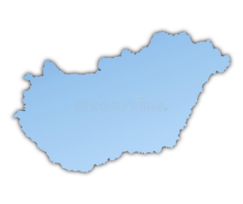 Ungarn-Karte lizenzfreie abbildung