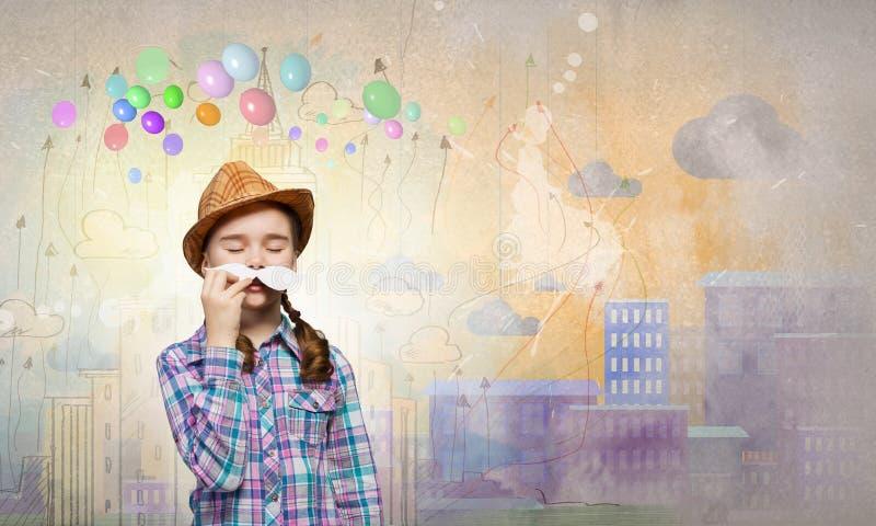 Unge med mustaschen arkivfoton