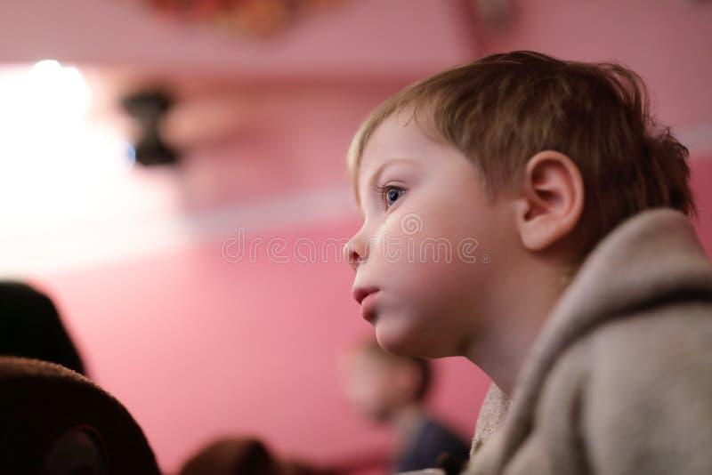 Unge som håller ögonen på scenisk kapacitet royaltyfri bild