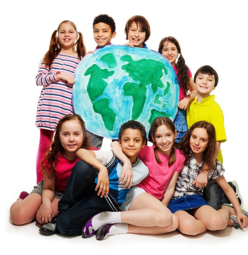 Unge värld royaltyfria bilder