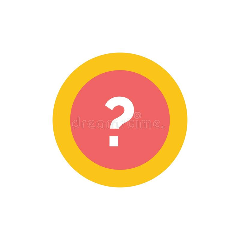 Ungefähr bitten Sie, Informationen, Frage, Stützflache Farbikone Vektorikonen-Fahne Schablone stock abbildung