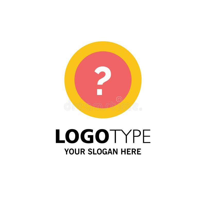 Ungefähr bitten Sie, Informationen, Frage, Stützgeschäft Logo Template flache Farbe vektor abbildung