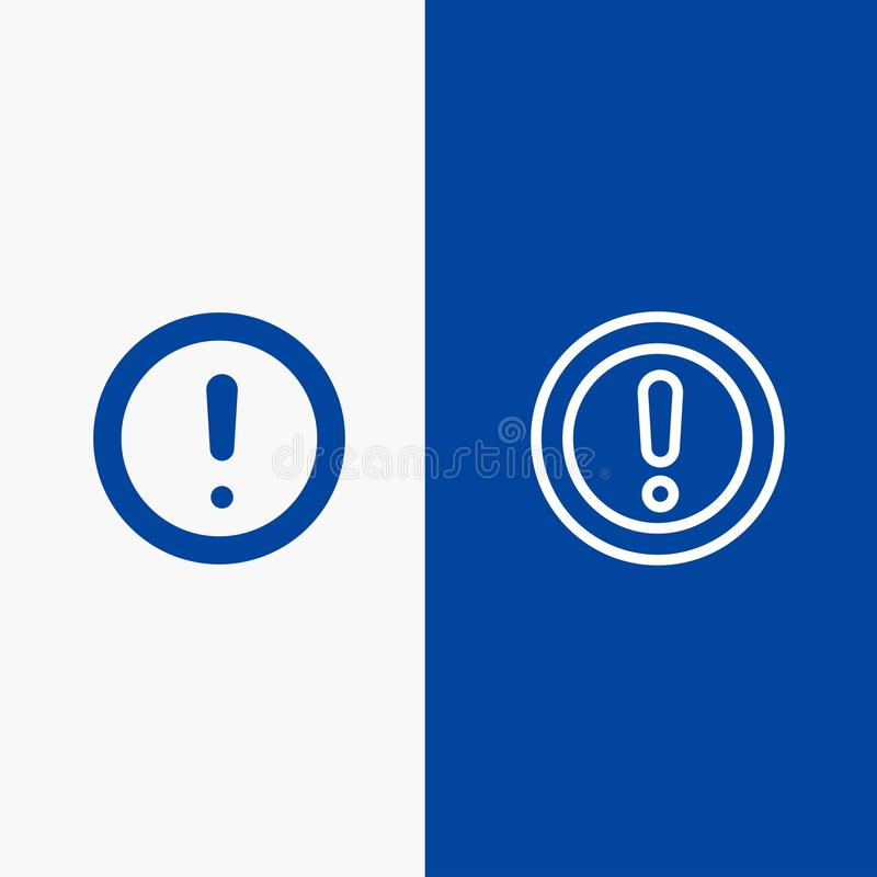 Ungefähr blaue Fahne der blauen Fahne der festen Ikone der Informationen, der Anmerkung, der Frage, der Deckungslinie und des Gly lizenzfreie abbildung