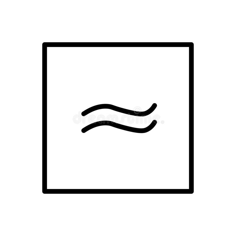 Ungefärligt jämbördig till symbolsvektorn som isoleras på vit bakgrund, ungefärligt jämbördig att underteckna, är är linjen och ö stock illustrationer