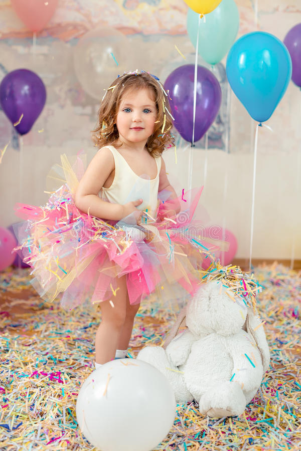 Ungefödelsedagparti fotografering för bildbyråer