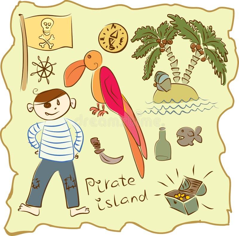 Ungen piratkopierar samlingen vektor illustrationer