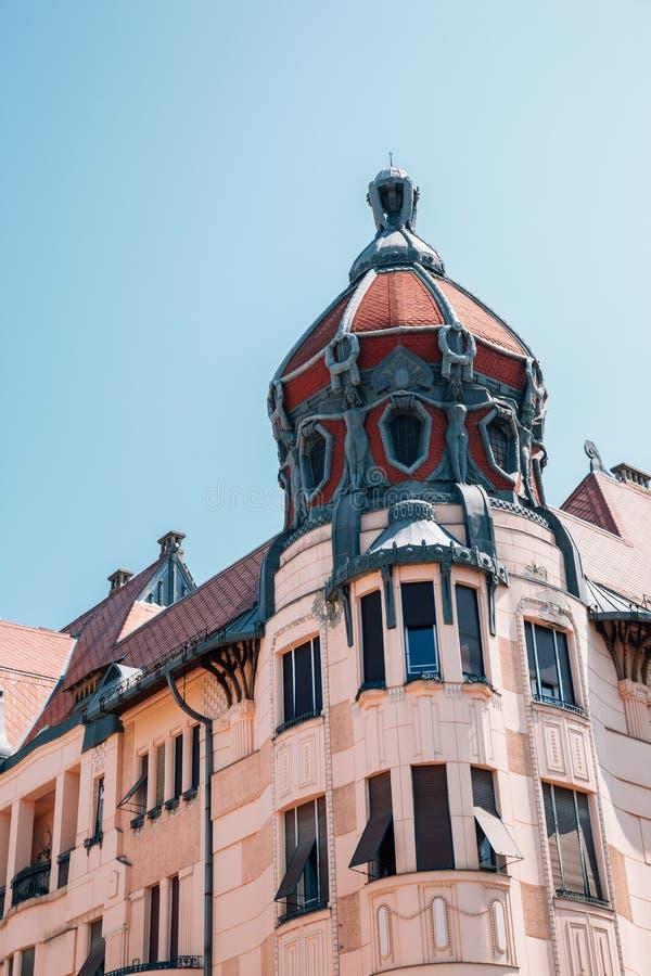 Unger Mayer House Art Nouveau Architecture in Szeged, Hongarije royalty-vrije stock afbeeldingen