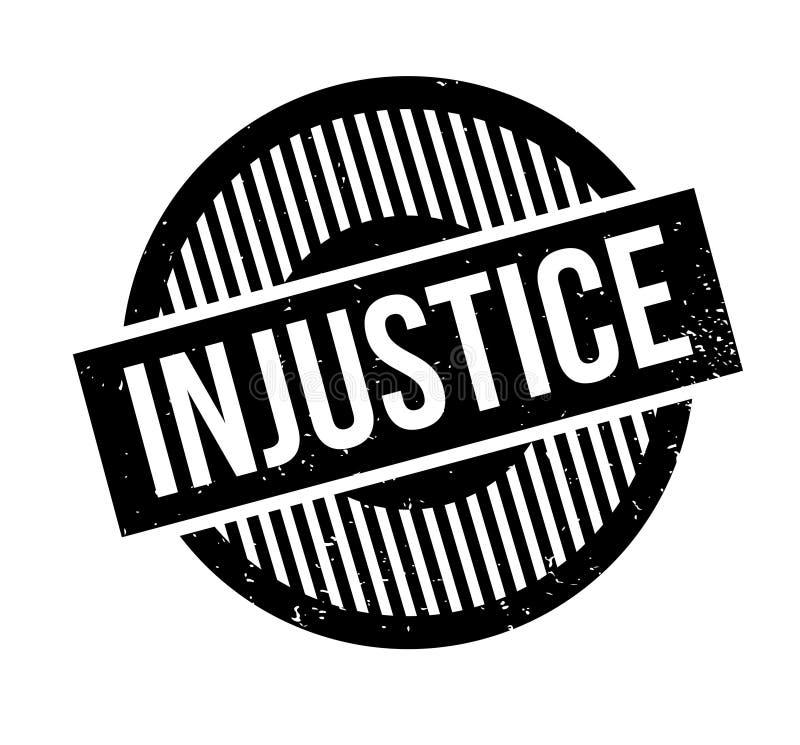 Ungerechtigkeitsstempel lizenzfreie abbildung