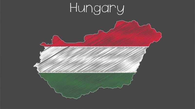 Ungernöversikt-flagga illustration stock illustrationer