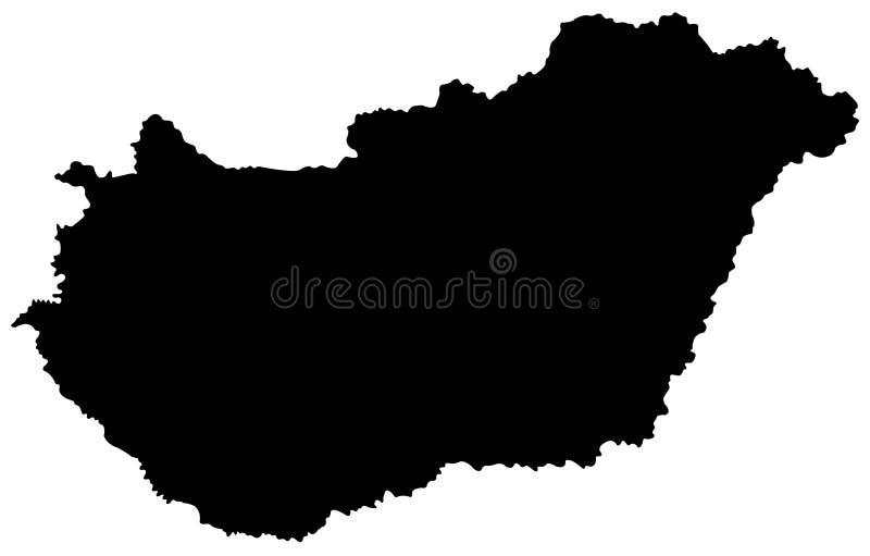 Ungernöversikt - land i Centraleuropa royaltyfri illustrationer