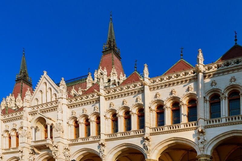 Ungern Budapest parlament i Budapest historisk byggnad royaltyfria foton
