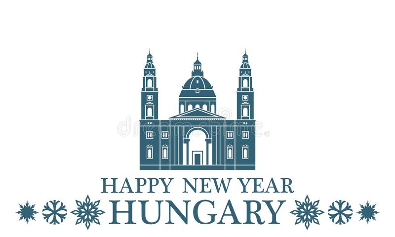Ungern för lyckligt nytt år stock illustrationer